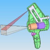 3D Rendering of the project of an handheld 3D laser scanner
